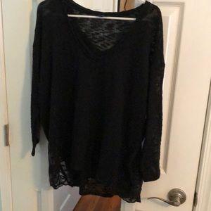 Black see through Jessica Simpson sweater